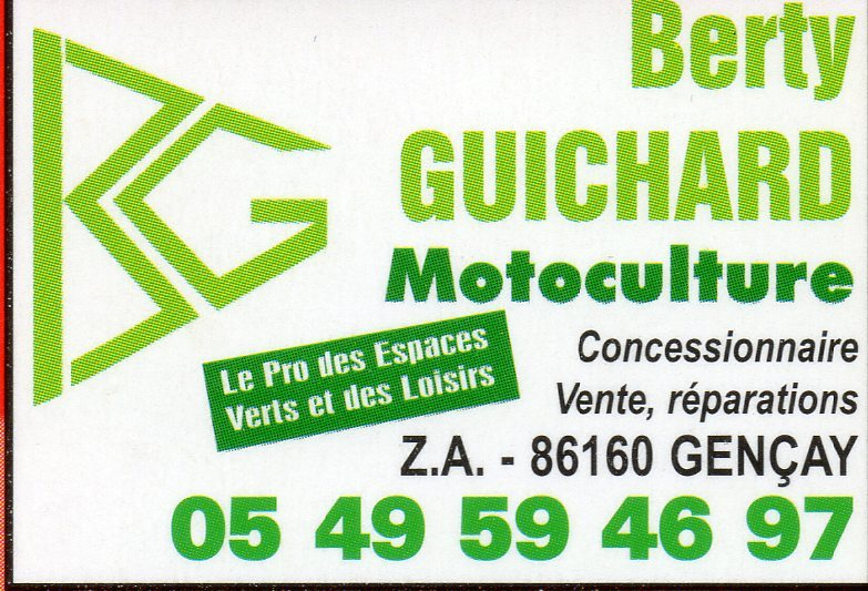 MOTOCULTURE BERTY GUICHARD