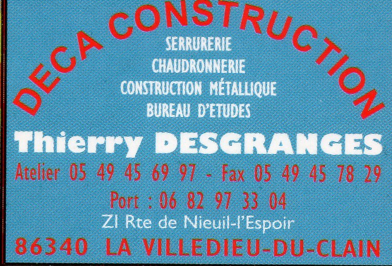 DECA CONSTRUCTION THIERRY DESGRANGES